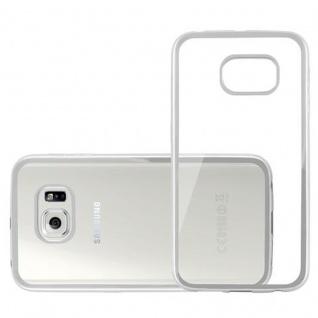 Cadorabo Hülle für Samsung Galaxy S6 EDGE - Hülle in TRANSPARENT mit CHROM SILBER ? Handyhülle aus TPU Silikon im Chrom Design - Silikonhülle Schutzhülle Ultra Slim Soft Back Cover Case Bumper - Vorschau 3