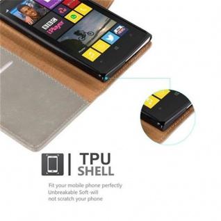 Cadorabo Hülle für Nokia Lumia 1020 in CAPPUCCINO BRAUN ? Handyhülle mit Magnetverschluss, Standfunktion und Kartenfach ? Case Cover Schutzhülle Etui Tasche Book Klapp Style - Vorschau 4
