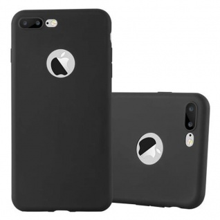 Cadorabo Hülle für Apple iPhone 8 PLUS / 7 PLUS / 7S PLUS in CANDY SCHWARZ - Handyhülle aus flexiblem TPU Silikon - Silikonhülle Schutzhülle Ultra Slim Soft Back Cover Case Bumper