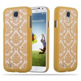 Samsung Galaxy S4 Hardcase Hülle in GOLD von Cadorabo - Blumen Paisley Henna Design Schutzhülle ? Handyhülle Bumper Back Case Cover