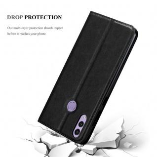 Cadorabo Hülle für Honor 8C in NACHT SCHWARZ - Handyhülle mit Magnetverschluss, Standfunktion und Kartenfach - Case Cover Schutzhülle Etui Tasche Book Klapp Style - Vorschau 5