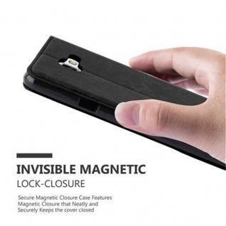 Cadorabo Hülle für Samsung Galaxy A7 2016 in NACHT SCHWARZ - Handyhülle mit Magnetverschluss, Standfunktion und Kartenfach - Case Cover Schutzhülle Etui Tasche Book Klapp Style - Vorschau 4