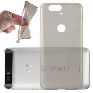 Cadorabo Hülle für Huawei NEXUS 6P in TRANSPARENT SCHWARZ - Handyhülle aus flexiblem TPU Silikon - Silikonhülle Schutzhülle Ultra Slim Soft Back Cover Case Bumper