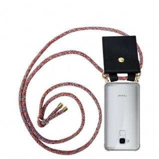 Cadorabo Handy Kette für Honor 5C in COLORFUL PARROT - Silikon Necklace Umhänge Hülle mit Gold Ringen, Kordel Band Schnur und abnehmbarem Etui ? Schutzhülle