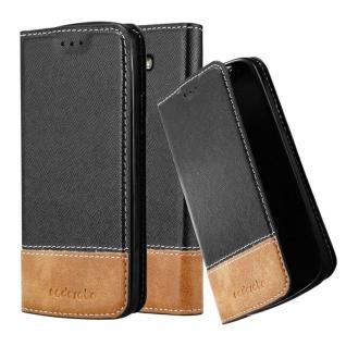 Cadorabo Hülle für LG G2 MINI in SCHWARZ BRAUN Handyhülle mit Magnetverschluss, Standfunktion und Kartenfach Case Cover Schutzhülle Etui Tasche Book Klapp Style
