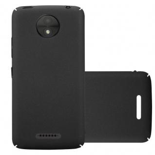 Cadorabo Hülle für Motorola MOTO C PLUS in FROSTY SCHWARZ - Hardcase Handyhülle aus Plastik gegen Kratzer und Stöße - Schutzhülle Bumper Ultra Slim Back Case Hard Cover