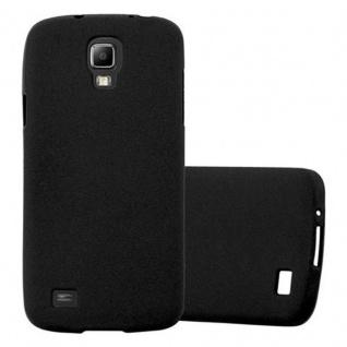 Cadorabo Hülle für Samsung Galaxy S4 ACTIVE in FROST SCHWARZ - Handyhülle aus flexiblem TPU Silikon - Silikonhülle Schutzhülle Ultra Slim Soft Back Cover Case Bumper