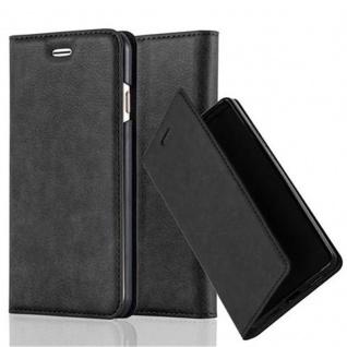 Cadorabo Hülle für Apple iPhone 6 PLUS / iPhone 6S PLUS in NACHT SCHWARZ - Handyhülle mit Magnetverschluss, Standfunktion und Kartenfach - Case Cover Schutzhülle Etui Tasche Book Klapp Style