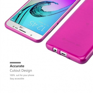 Cadorabo Hülle für Samsung Galaxy J7 2016 in PINK - Handyhülle aus flexiblem TPU Silikon - Silikonhülle Schutzhülle Ultra Slim Soft Back Cover Case Bumper - Vorschau 5
