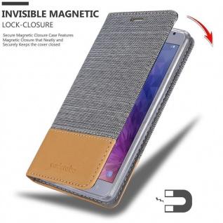 Cadorabo Hülle für Samsung Galaxy J4 2018 in HELL GRAU BRAUN - Handyhülle mit Magnetverschluss, Standfunktion und Kartenfach - Case Cover Schutzhülle Etui Tasche Book Klapp Style - Vorschau 3