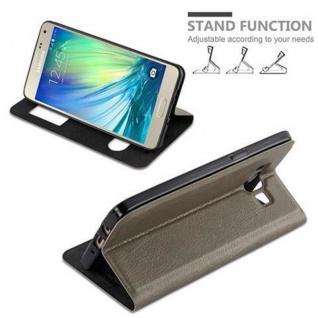 Cadorabo Hülle für Samsung Galaxy A5 2015 in STEIN BRAUN ? Handyhülle mit Magnetverschluss, Standfunktion und 2 Sichtfenstern ? Case Cover Schutzhülle Etui Tasche Book Klapp Style - Vorschau 4