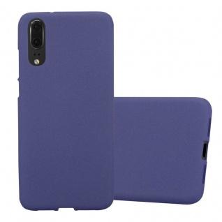 Cadorabo Hülle für Huawei P20 in FROST DUNKEL BLAU Handyhülle aus flexiblem TPU Silikon Silikonhülle Schutzhülle Ultra Slim Soft Back Cover Case Bumper