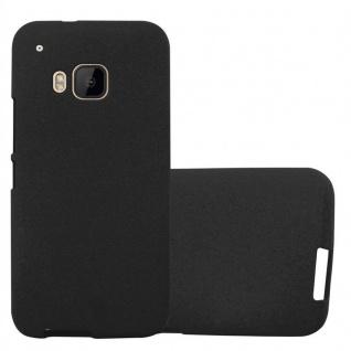 Cadorabo Hülle für HTC ONE M9 in FROST SCHWARZ - Handyhülle aus flexiblem TPU Silikon - Silikonhülle Schutzhülle Ultra Slim Soft Back Cover Case Bumper