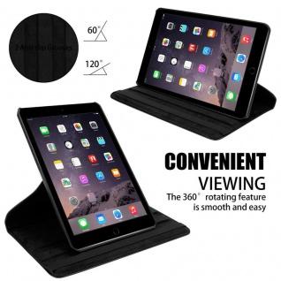 Cadorabo Tablet Hülle für Apple iPad AIR 2 2014 / iPad AIR 2013 in HOLUNDER SCHWARZ Book Style Schutzhülle mit Auto Wake Up mit Standfunktion und Gummiband Verschluss - Vorschau 5