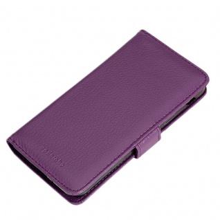 Cadorabo Hülle für Samsung Galaxy XCover 4 in BORDEAUX LILA ? Handyhülle mit Magnetverschluss und 3 Kartenfächern ? Case Cover Schutzhülle Etui Tasche Book Klapp Style - Vorschau 5
