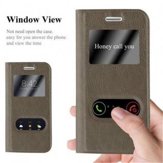 Cadorabo Hülle für Samsung Galaxy S3 MINI in STEIN BRAUN - Handyhülle mit Magnetverschluss, Standfunktion und 2 Sichtfenstern - Case Cover Schutzhülle Etui Tasche Book Klapp Style - Vorschau 2