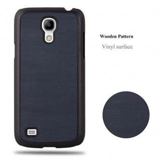 Cadorabo Hülle für Samsung Galaxy S4 MINI in WOODY BLAU - Hardcase Handyhülle aus Plastik gegen Kratzer und Stöße - Schutzhülle Bumper Ultra Slim Back Case Hard Cover - Vorschau 4