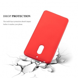 Cadorabo Hülle für Nokia 6 2017 in METALLIC ROT - Handyhülle aus flexiblem TPU Silikon - Silikonhülle Schutzhülle Ultra Slim Soft Back Cover Case Bumper - Vorschau 3