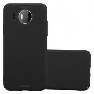 Cadorabo Hülle für Nokia Lumia 950 XL in FROSTY SCHWARZ - Hardcase Handyhülle aus Plastik gegen Kratzer und Stöße - Schutzhülle Bumper Ultra Slim Back Case Hard Cover