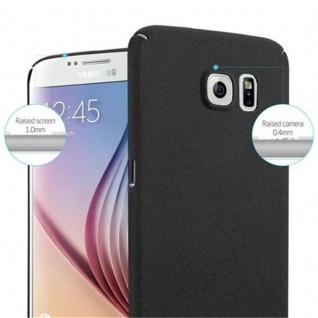 Cadorabo Hülle für Samsung Galaxy S6 in FROSTY SCHWARZ - Hardcase Handyhülle aus Plastik gegen Kratzer und Stöße - Schutzhülle Bumper Ultra Slim Back Case Hard Cover - Vorschau 5