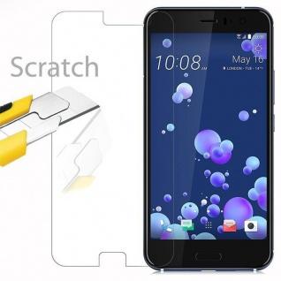 Cadorabo Panzer Folie für HTC OCEAN / U11 - Schutzfolie in KRISTALL KLAR - Gehärtetes (Tempered) Display-Schutzglas in 9H Härte mit 3D Touch Kompatibilität - Vorschau 2