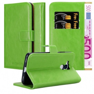 Cadorabo Hülle für Honor 5C in GRAS GRÜN ? Handyhülle mit Magnetverschluss, Standfunktion und Kartenfach ? Case Cover Schutzhülle Etui Tasche Book Klapp Style