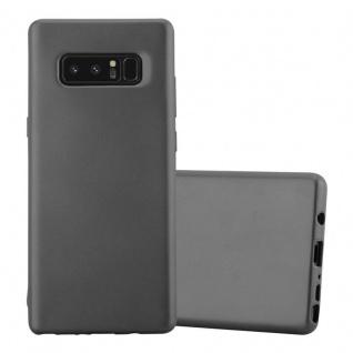 Cadorabo Hülle für Samsung Galaxy NOTE 8 in METALLIC GRAU - Handyhülle aus flexiblem TPU Silikon - Silikonhülle Schutzhülle Ultra Slim Soft Back Cover Case Bumper