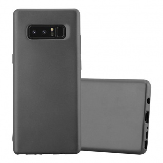 Cadorabo Hülle für Samsung Galaxy NOTE 8 in METALLIC GRAU Handyhülle aus flexiblem TPU Silikon Silikonhülle Schutzhülle Ultra Slim Soft Back Cover Case Bumper