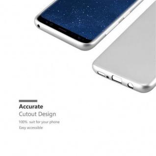 Cadorabo Hülle für Samsung Galaxy S8 in METALLIC SILBER - Handyhülle aus flexiblem TPU Silikon - Silikonhülle Schutzhülle Ultra Slim Soft Back Cover Case Bumper - Vorschau 2