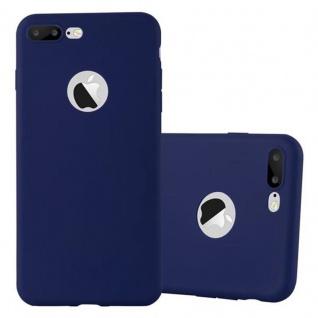 Cadorabo Hülle für Apple iPhone 8 PLUS / 7 PLUS / 7S PLUS in CANDY DUNKEL BLAU - Handyhülle aus flexiblem TPU Silikon - Silikonhülle Schutzhülle Ultra Slim Soft Back Cover Case Bumper