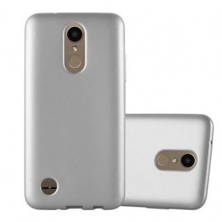 Cadorabo Hülle für LG K10 2017 in METALLIC SILBER - Handyhülle aus flexiblem TPU Silikon - Silikonhülle Schutzhülle Ultra Slim Soft Back Cover Case Bumper