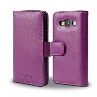 Cadorabo Hülle für Samsung Galaxy A3 2015 in BORDEAUX LILA - Handyhülle mit Magnetverschluss und 3 Kartenfächern - Case Cover Schutzhülle Etui Tasche Book Klapp Style