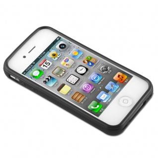 Cadorabo Hülle für Apple iPhone 4 / iPhone 4S in SCHWARZ - Handyhülle aus flexiblem TPU Silikon - Silikonhülle Schutzhülle Ultra Slim Soft Back Cover Case Bumper - Vorschau 2