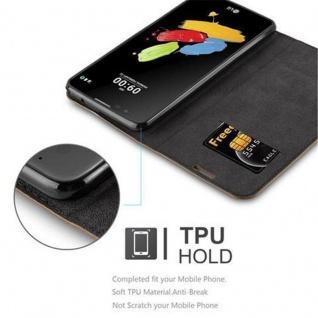 Cadorabo Hülle für LG STYLUS 2 in KAFFEE BRAUN - Handyhülle mit Magnetverschluss, Standfunktion und Kartenfach - Case Cover Schutzhülle Etui Tasche Book Klapp Style - Vorschau 3