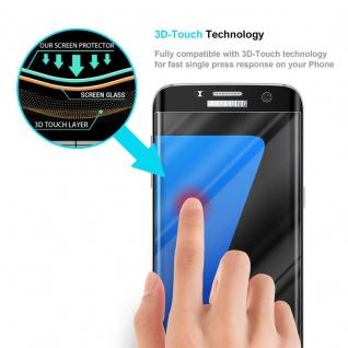 Cadorabo Vollbild Panzer Folie für Samsung Galaxy S7 EDGE - Schutzfolie in TRANSPARENT mit SCHWARZ - Gehärtetes (Tempered) Display-Schutzglas in 9H Härte mit 3D Touch Kompatibilität - Vorschau 5