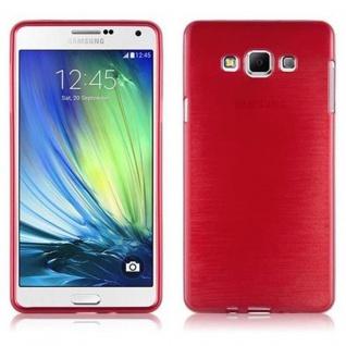 Cadorabo Hülle für Samsung Galaxy A7 2015 in ROT - Handyhülle aus flexiblem TPU Silikon - Silikonhülle Schutzhülle Ultra Slim Soft Back Cover Case Bumper