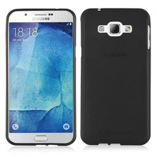 Cadorabo Hülle für Samsung Galaxy A8 2015 in SCHWARZ - Handyhülle aus flexiblem TPU Silikon - Silikonhülle Schutzhülle Ultra Slim Soft Back Cover Case Bumper