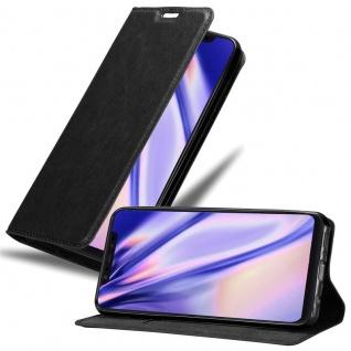 Cadorabo Hülle für Xiaomi Mi 8 in NACHT SCHWARZ - Handyhülle mit Magnetverschluss, Standfunktion und Kartenfach - Case Cover Schutzhülle Etui Tasche Book Klapp Style