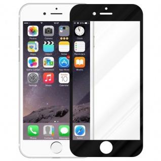 Cadorabo Vollbild Panzer Folie für Apple iPhone 6 / iPhone 6S - Schutzfolie in TRANSPARENT mit SCHWARZ - Gehärtetes (Tempered) Display-Schutzglas in 9H Härte mit 3D Touch Kompatibilität - Vorschau 2