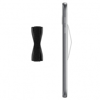 Cadorabo - Finger-Halterung Sling Grip für Smartphone / Tablet / iPod / eReader Griff Henkel Sling Schlaufe Riemen in SCHWARZ - Vorschau 5