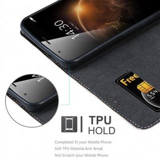 Cadorabo Hülle für Huawei G7 PLUS / G8 / GX8 in ROSÉ GOLD SCHWARZ ? Handyhülle mit Magnetverschluss, Standfunktion und Kartenfach ? Case Cover Schutzhülle Etui Tasche Book Klapp Style