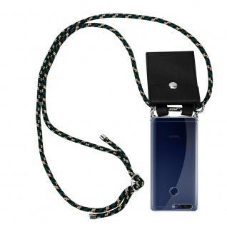 Cadorabo Handy Kette für Honor 8 PRO in CAMOUFLAGE Silikon Necklace Umhänge Hülle mit Silber Ringen, Kordel Band Schnur und abnehmbarem Etui Schutzhülle