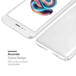 Cadorabo Hülle für Xiaomi Mi A1 / 5X in METALL SILBER - Hardcase Handyhülle aus Plastik gegen Kratzer und Stöße - Schutzhülle Bumper Ultra Slim Back Case Hard Cover - Vorschau 5