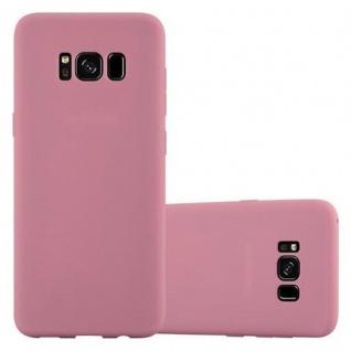 Cadorabo Hülle für Samsung Galaxy S8 in CANDY ROSA - Handyhülle aus flexiblem TPU Silikon - Silikonhülle Schutzhülle Ultra Slim Soft Back Cover Case Bumper