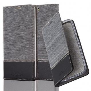 Cadorabo Hülle für OnePlus 5 in GRAU SCHWARZ - Handyhülle mit Magnetverschluss, Standfunktion und Kartenfach - Case Cover Schutzhülle Etui Tasche Book Klapp Style