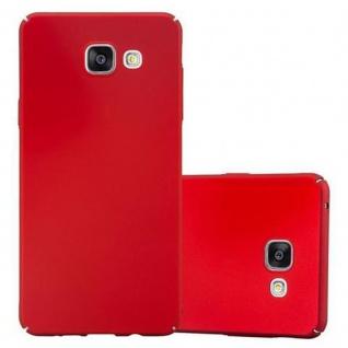 Cadorabo Hülle für Samsung Galaxy A3 2016 in METALL ROT ? Hardcase Handyhülle aus Plastik gegen Kratzer und Stöße ? Schutzhülle Bumper Ultra Slim Back Case Hard Cover