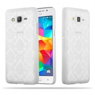 Samsung Galaxy GRAND PRIME Hardcase Hülle in WEIß von Cadorabo - Blumen Paisley Henna Design Schutzhülle ? Handyhülle Bumper Back Case Cover