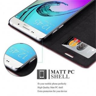 Cadorabo Hülle für Samsung Galaxy A5 2016 in APFEL ROT - Handyhülle mit Magnetverschluss, Standfunktion und Kartenfach - Case Cover Schutzhülle Etui Tasche Book Klapp Style - Vorschau 5