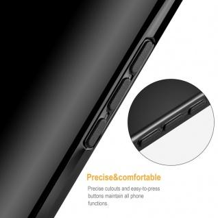 Cadorabo Hülle für Samsung Galaxy A8 2018 in SCHWARZ - Handyhülle aus flexiblem TPU Silikon - Silikonhülle Schutzhülle Ultra Slim Soft Back Cover Case Bumper - Vorschau 3