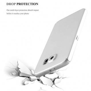 Cadorabo Hülle für Samsung Galaxy S6 in METALL SILBER - Hardcase Handyhülle aus Plastik gegen Kratzer und Stöße - Schutzhülle Bumper Ultra Slim Back Case Hard Cover - Vorschau 5